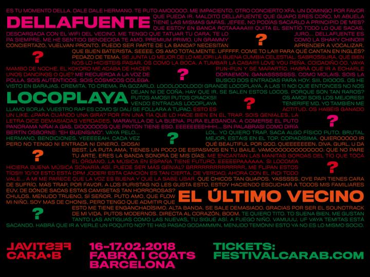 El Festival Cara•B avança les primeres confirmacions de la seva quarta edició a la Fabra i Coats de Barcelona