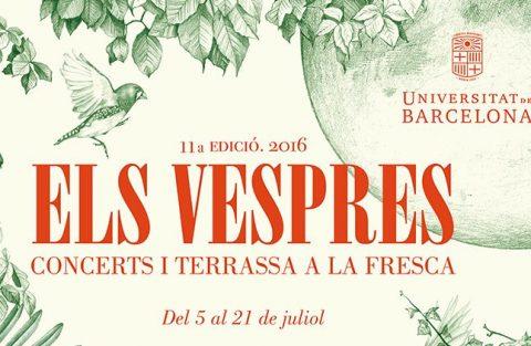 Cartell d'Els Vespres de la UB